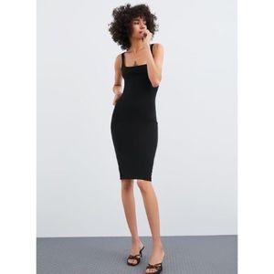 Zara Black Tube Dress Back Zip S EXCELLENT